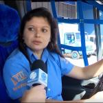 Motorista Thais Cristina da filial de Curitiba (PR) participa de reportagem