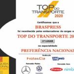 Braspress é Top do Transporte